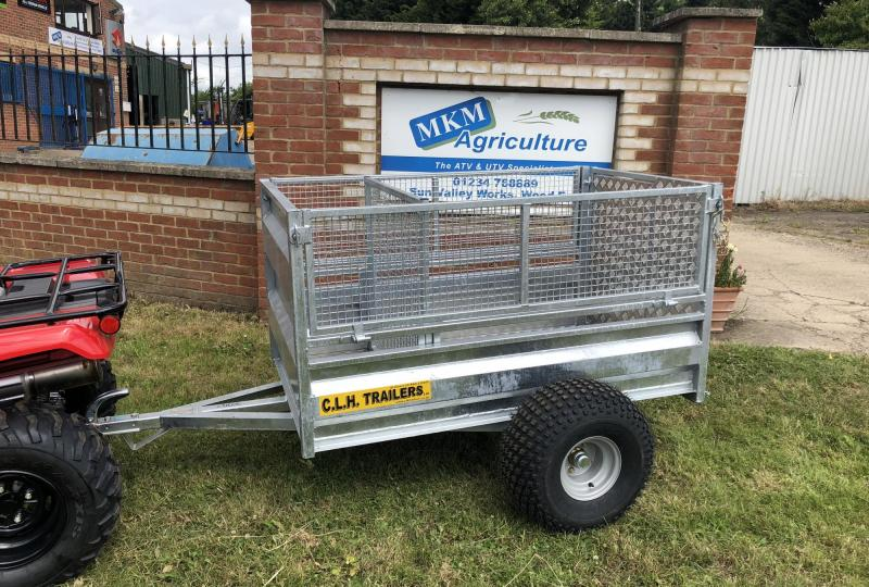CLH 5 X 3 mesh drop side stock trailer